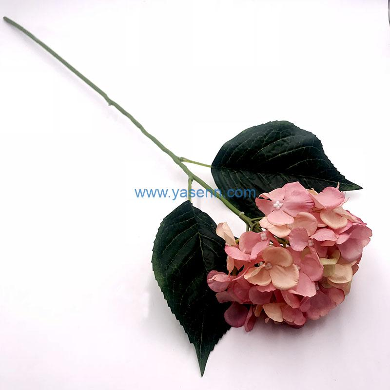 Single Hydrangea Artificial Flowers Long Stem Silk Flowers for Home Wedding Home Party Table Decorations