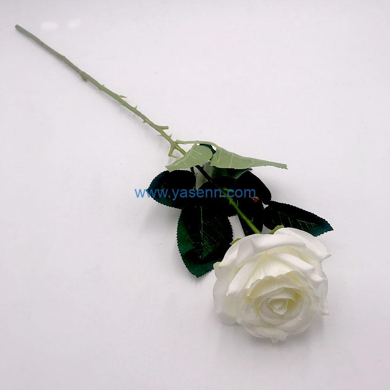 Single Rose Artificial Flowers Long Stem Silk Flowers for Home Wedding Home Party Table Decorations