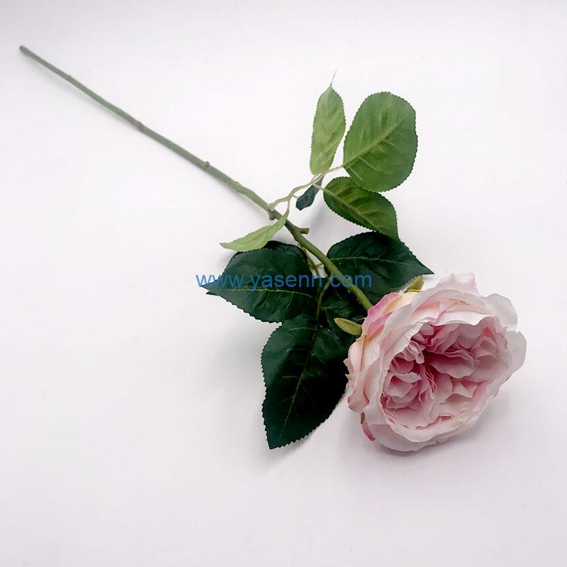 Single Peony Artificial Flowers Long Stem Silk Flowers for Home Wedding Home Party Table Decorations