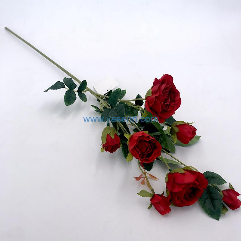 Artificial Silk Flowers Single Rose for Home Coffee House Parties and Wedding Decoration