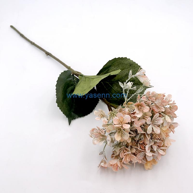 Artificial Silk Flowers Single Hydrangea for Home Coffee House Parties and Wedding Decoration