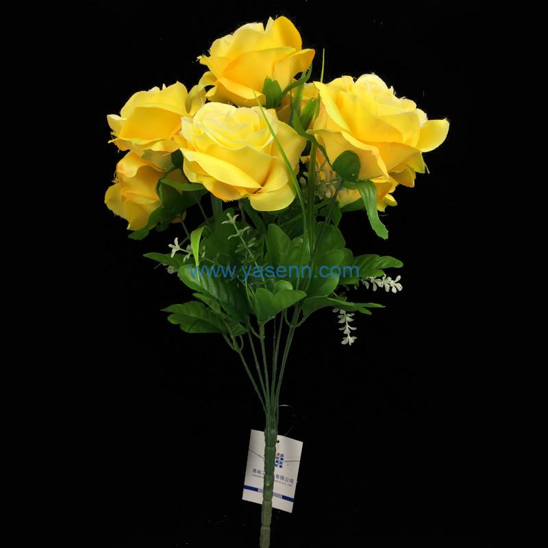 7 Branches Rose Artificial Silk Flowers