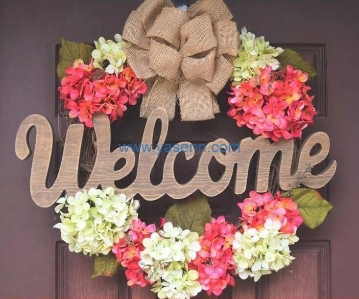 how to use artificial flower to make Spring Wreath